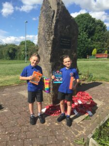 Competition winners with their prizes